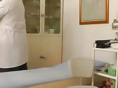 Old gynecologist likes to spy on young pussy tube porn video