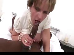 British lady in stockings takes black cock. tube porn video
