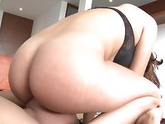 Curly chick is sitting on the face so sexy tube porn video