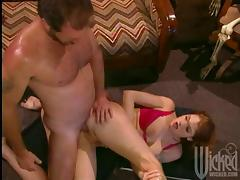 Sexy Redhead Gets Her Asshole Licked and Pussy Fucked tube porn video