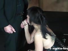 Saskia Bukkake Party tube porn video
