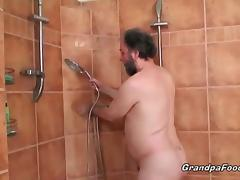 Sexy babe gets nasty with horny grandpa tube porn video