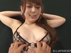 Sugary Asian milf Yui Hatana gives hot blowjob gets drilled by toys tube porn video