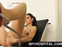 Old gyno doctor sets up a hidden cam tube porn video