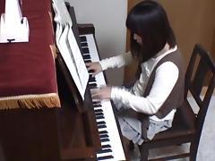 Piano teacher rear fucks his pupil across the piano keys tube porn video
