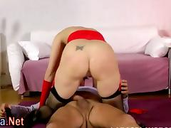 Stockings milf gets ass creampie tube porn video