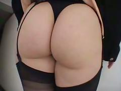 A White chick in stockings gets double penetrated by Blacks tube porn video