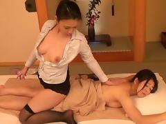 Sewaka Hayase and female friend enjoy Asian lesbian fun tube porn video