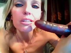 Busty blonde toys her twat on webcam tube porn video