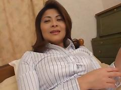 Reona Azabu Pretty Asian doll gets some hard gangbang action tube porn video