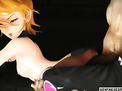 Two 3d girls gets fucked rough tube porn video