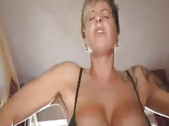 Busty milf fucks a huge bottle and fisted till she squirts tube porn video