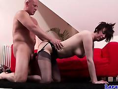 British mature in stockings loves rough sex tube porn video