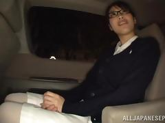 Sweet babe Miku Sunohara gets seduced in the car tube porn video