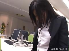 Yume Kyono hot Asian milf in an office suit gets DP tube porn video