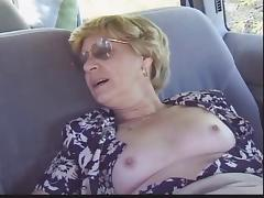 Blonde Granny Patrica Gets Fucked in the Back Seat tube porn video