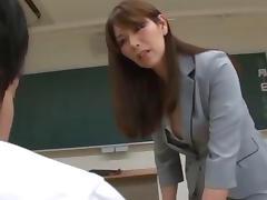 Asian Mature Teacher Keeps Her Favorite Student After Class tube porn video