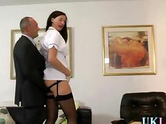Mature whore in stockings fucks a mature businessman tube porn video