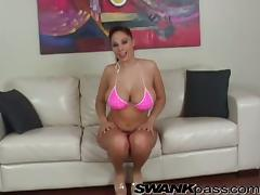 Busty Gianna Michaels gets fucked in her mouth and a pussy tube porn video