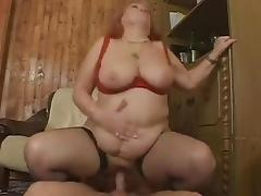 BBW Hairy Granny With Big Boobs Gets Fuck With Facial tube porn video