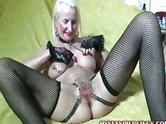 Pierced Granny tube porn video