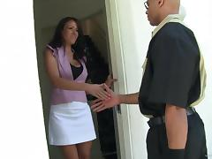 Mischievous brunette mom Layla Rider gets hammered by bald dude tube porn video