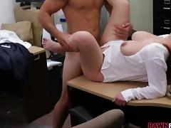 Business lady fucked by pawnshop keeper tube porn video