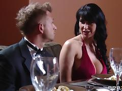 Eva Karera gets her cunt and ass fucked deep in the kitchen tube porn video
