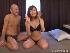 Japanese beauty Kokone Mizutani enjoys getting fondled and fucked tube porn video