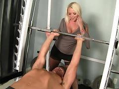 Angel Vain is drilled by a thick cock after sucking on it tube porn video