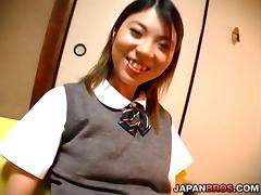 Panty flashing Japanese schoolgirl gets a nailing in her pooter tube porn video