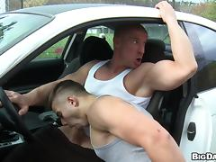 Gorgeous Gay Couple Getting It Hardcore In The Car tube porn video