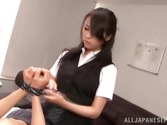 Asian office mild is a dominating tramp at work tube porn video
