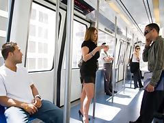 Riding on the Metro tube porn video