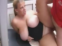 Plump British milf with big knockers fuck a guy tube porn video