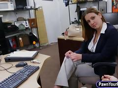 Business lady convinced to get fucked with pervert pawnkeeper tube porn video