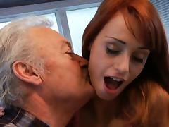 Lucky oldman fucks with super sexy babe Erica Fontes tube porn video