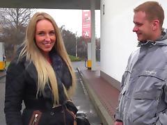 Hot blonde slut fucks in public tube porn video