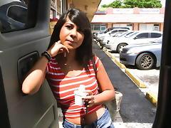 Latina Fucked On The BangBus tube porn video