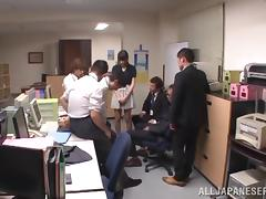 Nasty office lady Mihono Sakaguchi gets a massive cumshot load tube porn video