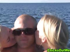 Real nude amateurs frolick on beach tube porn video