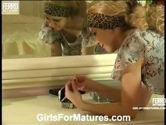 Tessa and Katrine live lesbian mature tube porn video