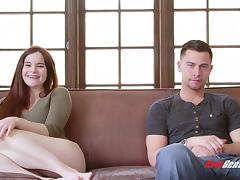 Jenna J Ross welcomes Seth Gamble's prick in her sweet shaved pussy tube porn video