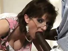 Slutty british dame sucks black cock tube porn video