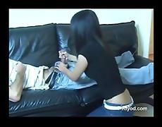 Filipina girl gives handjob tube porn video