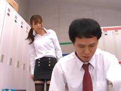 Saki Ninomiya Hot Japanese teacher has raunchy sex tube porn video