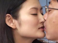 Insatiable Asian milf Risa Murakami in hot threesome banging tube porn video
