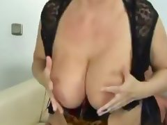 Busty German Grandma tube porn video