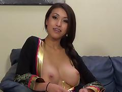 Jayden Lee gets her pussy banged and takes cumshot on her tits tube porn video